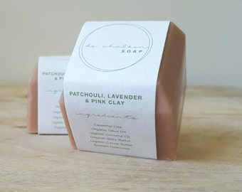 Lavender, Patchouli and Pink Clay Soap Bar