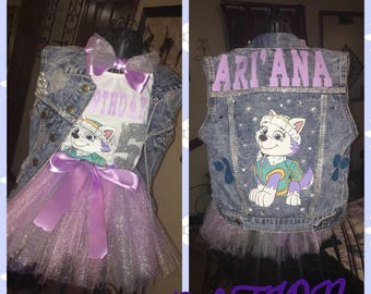 Everst from PAW PATROL!!  Tutu outfit and vest