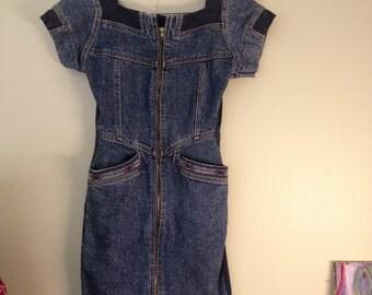 Vintage 80's denim dress