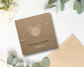 Share wedding heart stamp