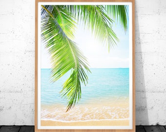 tropical leaf print tropical leaf tropical print palm print palm tree decor - Palm Tree Decor