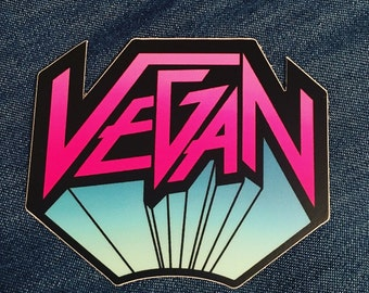 """VEGAN METAL STICKER 3"""" die cut sticker - decal - bumper sticker - flair"""