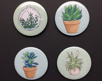 50% OFF SALE Plant and succulent badge set