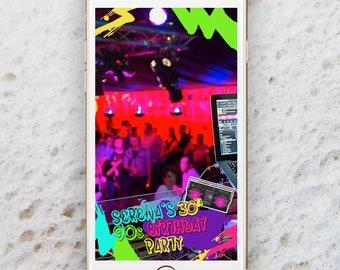90s party invitation #0: il 340x270 gwjk
