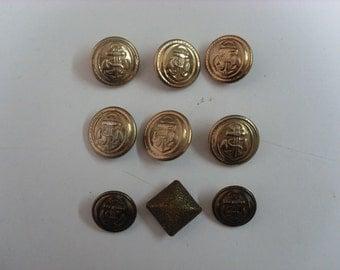 Vintage Antique Metal Buttons
