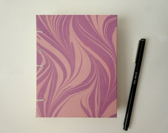 Purple and Peach Marble Journal