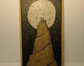 Cardboard Art - Moonlit Date