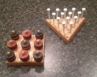 BRAIN GAME 2 PACK: Peg Jump Game and 3-D Tic Tac Toe