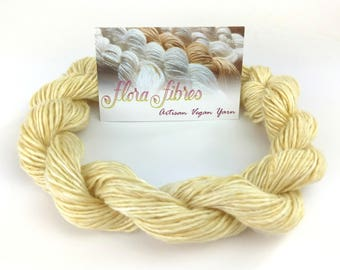 "Hand spun naturally dyed vegan tencel sport weight yarn ""Quite the Dandy"" for knitting crochet weaving UK"