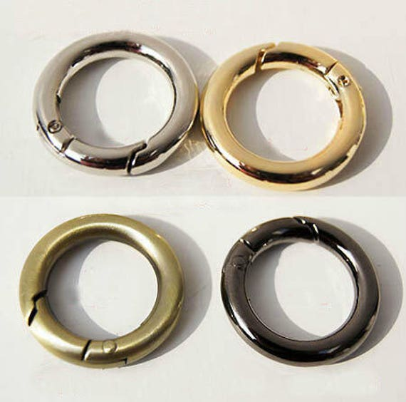 4 Pcs Metal Spring Ring Clasps Gate Rings Round Purse
