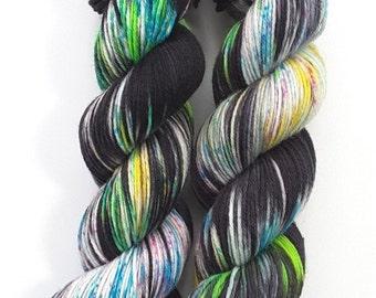 Tokyo - Merino/nylon sock 6ply, superwash, handdyed speckled