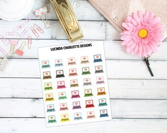 Laptop Computer - Planner Stickers
