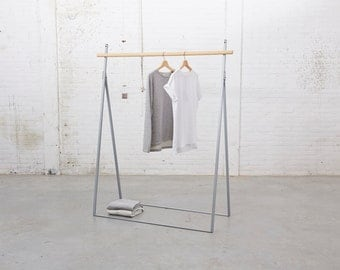 Clothing Rack Grey Yaco Studio