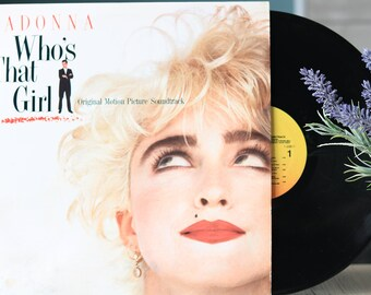 Madonna – Who's That Girl (LP, Vintage vinyl records,  80's Classic Pop, Soundtrack)
