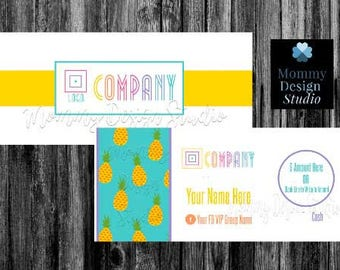 Pineapple MoolaCash/Bucks - HO Approved Branding Guide Colors/Fonts - Fashion Retailer - Gift Certificates CompanyCash - Bundles -Printable