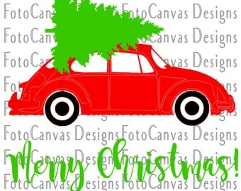Beetle Merry Christmas Tree, SVG, Bah Humbug, Happy Holidays, Silhouette Cameo, Antique, Vintage, Cricut, Cutting File, Cutting Machine