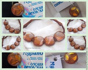 "Necklace ""Caramel"""