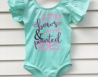 Dance leotard - girls leotard - toddler leotard - child leotard - ballet leotard - ballerina - ballet - girls dance clothing - dancewear