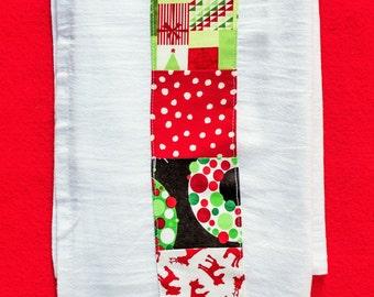 Embellished Flour Sack Towels / Hostess gifts/Gifts under 15/Christmas flour sack towels