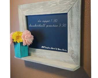Mother's day gift Chalk board. Hanging chalk board. Message center.  Hanging message center. Announcement board. Distressed wood chalk board