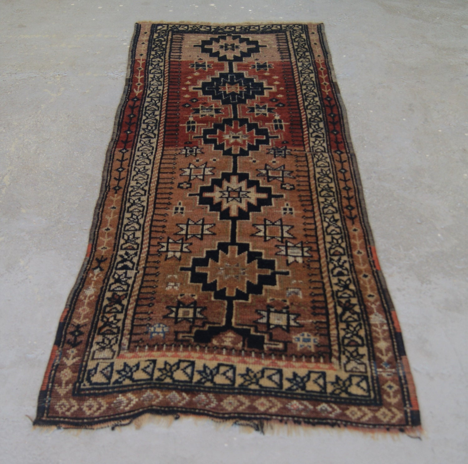 2'10x7'4 Anatolian Runner Rug Antique