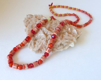 Warm Tones: From the Pickens' Collection, This one's for Rowan Glass Beaded Necklace
