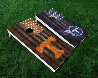 Unique Tennessee Cornhole Related Items Etsy