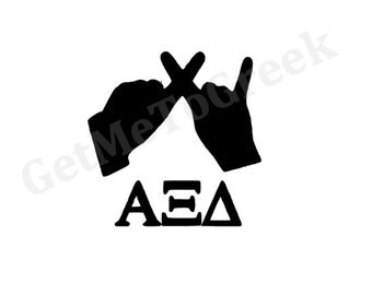 Alpha Xi Delta Hand Sign Decal
