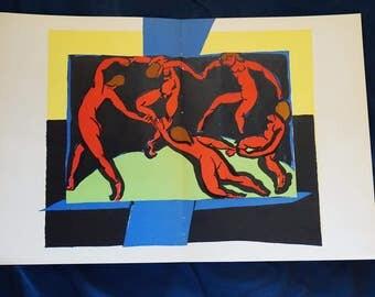 Henri Matisse Lithograph,  1939 Original Verve, Famous Lithograph, The Danse, La Dance,  Verve Magazine of Art,  Housewarming Gift