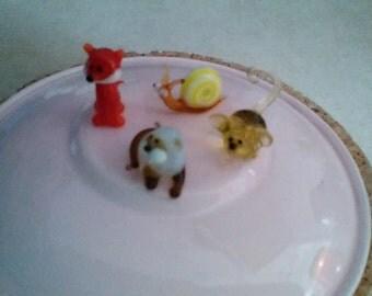 Tiny, tiny Russian blown glass animals