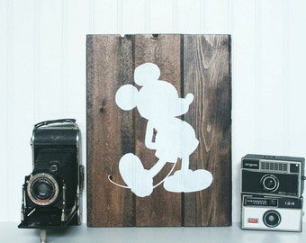 Disney Inspired Mickey Mouse Wooden Wall Decor