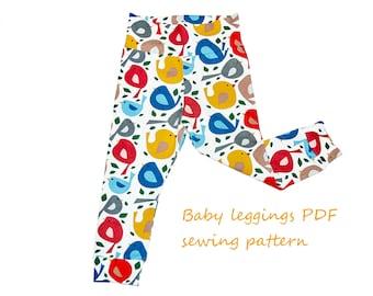 Baby leggings pattern PDF, baby sewing patterns, girls sewing patterns