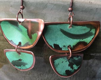 Salvaged Copper on Aged Bronze findings