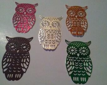 Owl die cuts embellishments