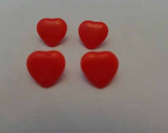 Vintage Red Heart Shank Buttons Vintage Buttons Shank Buttons Red Buttons Kids Buttons Valentine Day Buttoons
