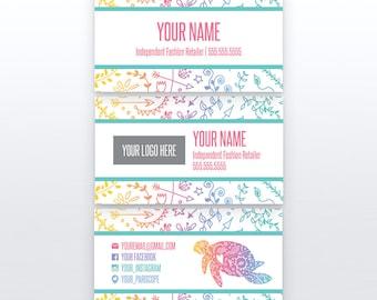 Turtle Business Card | 3.5x2 | Printable | Custom Business Cards