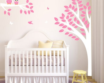 Hoo Hoo Forest with owls and birds Nursery wall decal