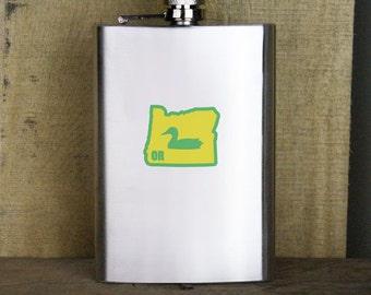 Original I Duck Oregon Variant Classic  8oz. Flask