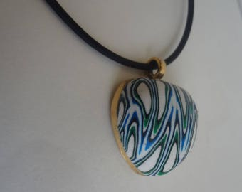 Hand made. Polymer clay .Pendant. Polymer clay pendant.