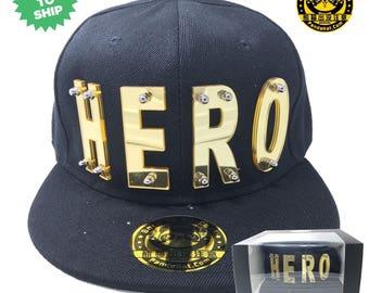 Hero Acrylic Letter Snapback Hat