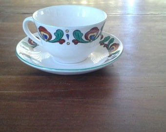 Norwegian TeaCup and Saucer