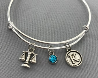 Lawyer Gift - Law School - Attorney Gift - Gift for Lawyer - Gift for Attorney - Future Lawyer - Personalized Bracelet- Gift for Her