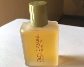 Vintage Oleg Cassini cologne concentrate