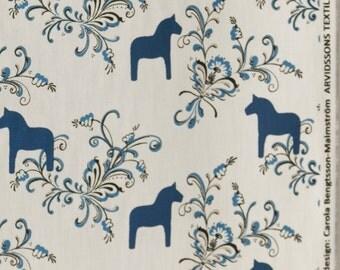 Arvidssons cure BITS MINI blue wooden - cotton - Dalecarlian horse dala horse