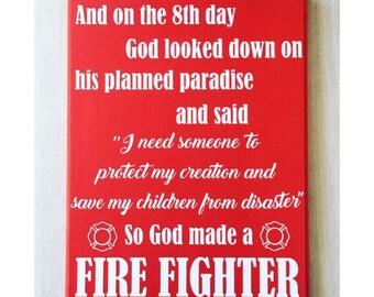 Firefighter Wall Art firefighter decor | etsy