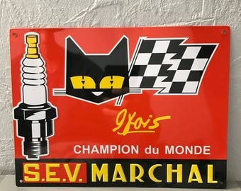 MARCHAL METAL SIGN vintage garage car 2305173