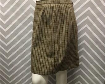 Vintage Italian Wool Pencil Skirt