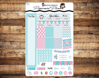 New Mini H Planner Monthly Set, December Monthly Set, Planner Stickers, {#M12}