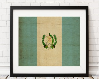 Guatemala Flag Art, Guatemalan Flag Print, Flag Poster, Country Flags, Flag Painting, Guatemala Poster, Housewarming Gifts, Unique Gifts
