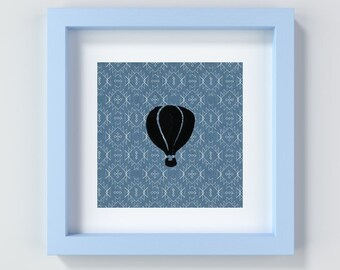 Hot Air Balloon Prints, Blue Nursery Decor, Baby Boy Wall Art, Printable Hot Air Balloon Artwork, Art for Nursery or Playroom, Kids Room Art